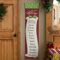 Personalized Christmas Door Banners - Family Christmas List