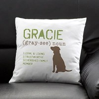 Personalized Dog Throw Pillow - Definition of My Dog