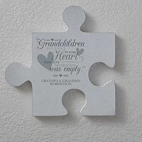 Personalized Puzzle Piece Wall Decor - Grandparents