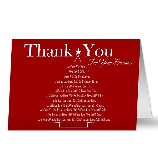 Personalized Corporate Christmas Cards - Thank You For Your Business