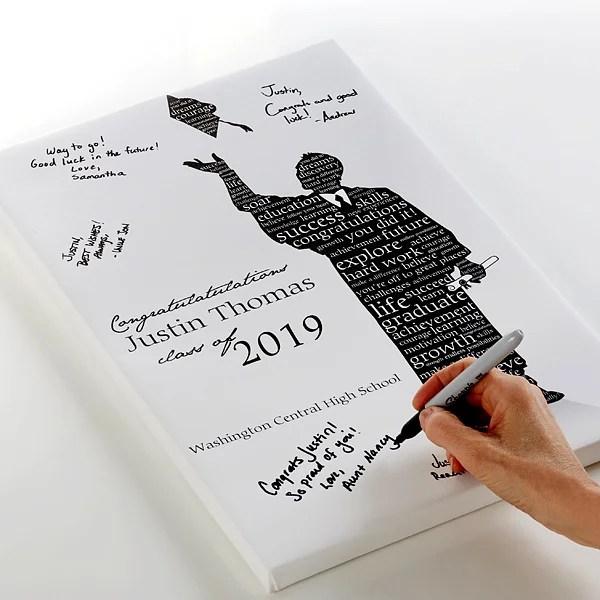 Graduation Guestbook Custom Art Print - 20x30 - Graduation Gifts