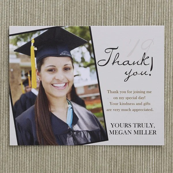 Personalized Graduation Thank You Cards - Refined Graduate
