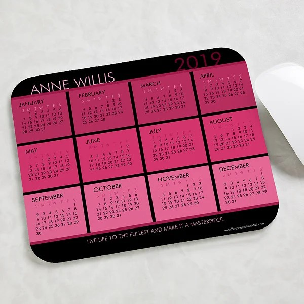 Personalized Calendar Mouse Pads - It\u0027s A Date