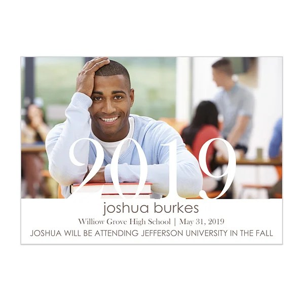 Personalized Photo Graduation Announcements - Proud Graduate