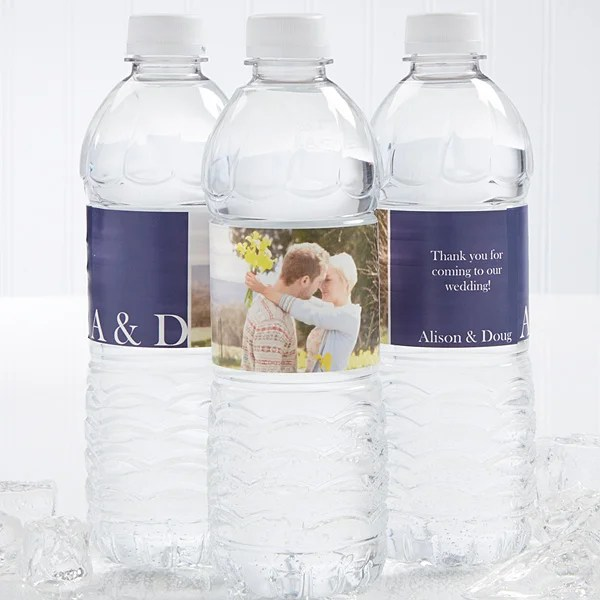 Wedding Couple Personalized Water Bottle Labels