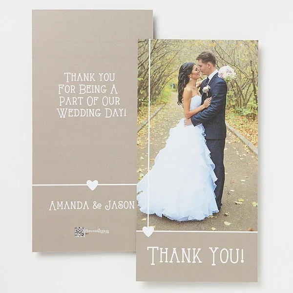 Personalized Wedding Photo Thank You Cards - Marriage Is A Blessing