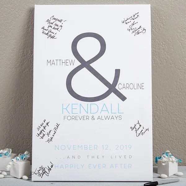 Custom Wedding Guest Book Canvas Print