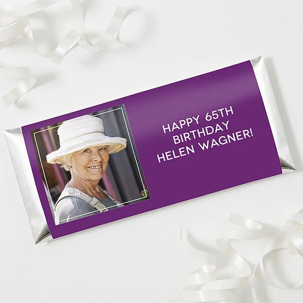 Personalized Photo Candy Bar Wrappers