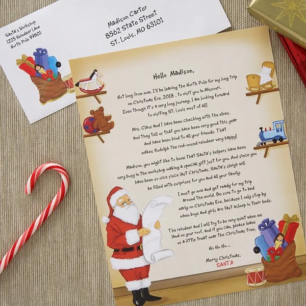 Personalized Letter from Santa Claus - Santa\u0027s Workshop