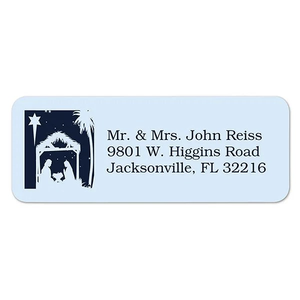 Christmas Nativity Personalized Return Address Labels