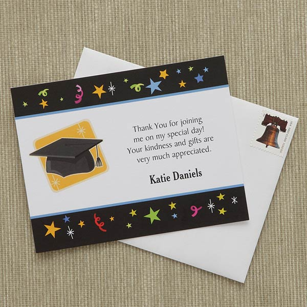 Personalized Graduation Thank You Notes - Let\u0027s Celebrate