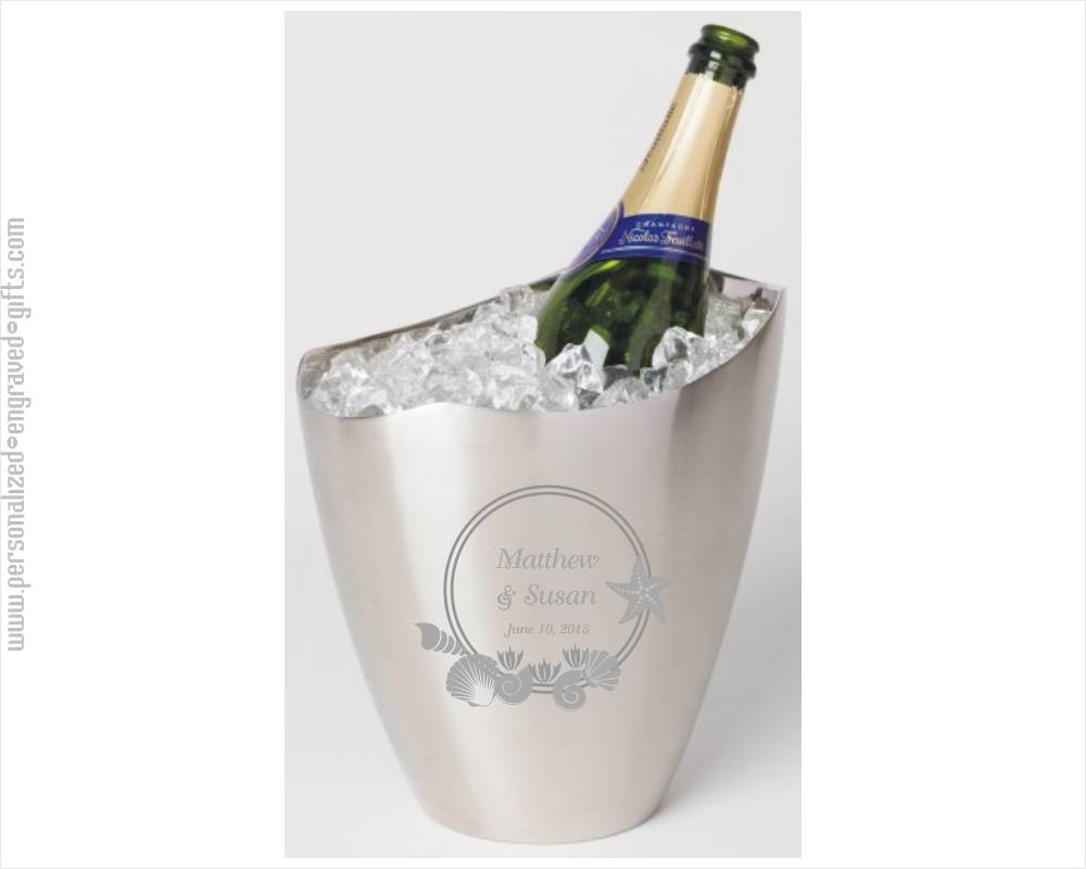 Personalized Wine Buckets Engraved Wine Cooler