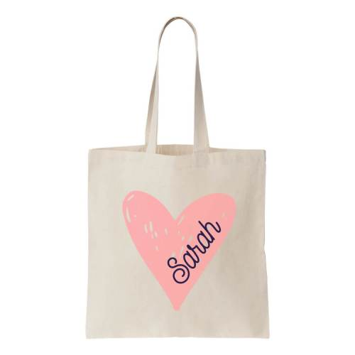 Wonderful Zipper Canvas Tote Bags Heart Canvas Tote Bag Name Canvas Tote Bag Heart Personalized Brides Canvas Tote Bags Name School