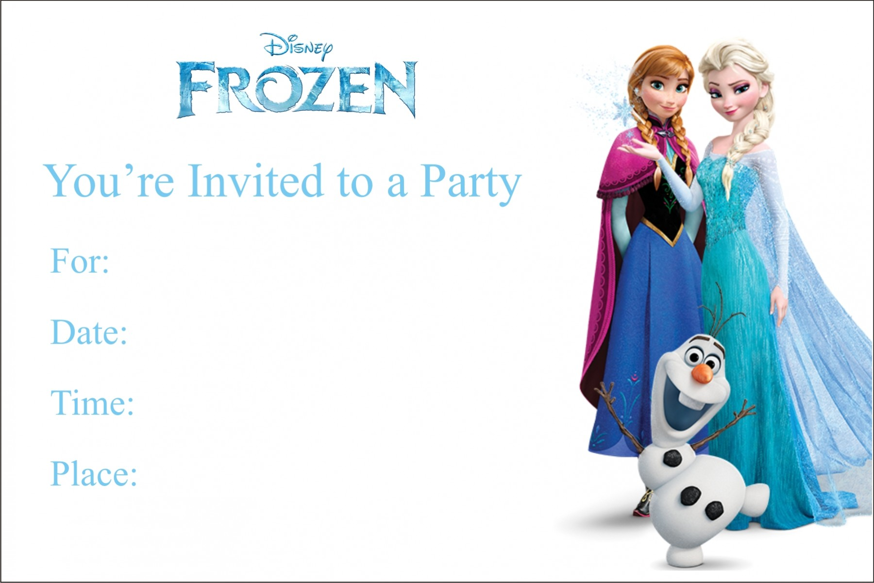 Cozy Frozen Free Printable Birthday Party Invitation Personalized ...
