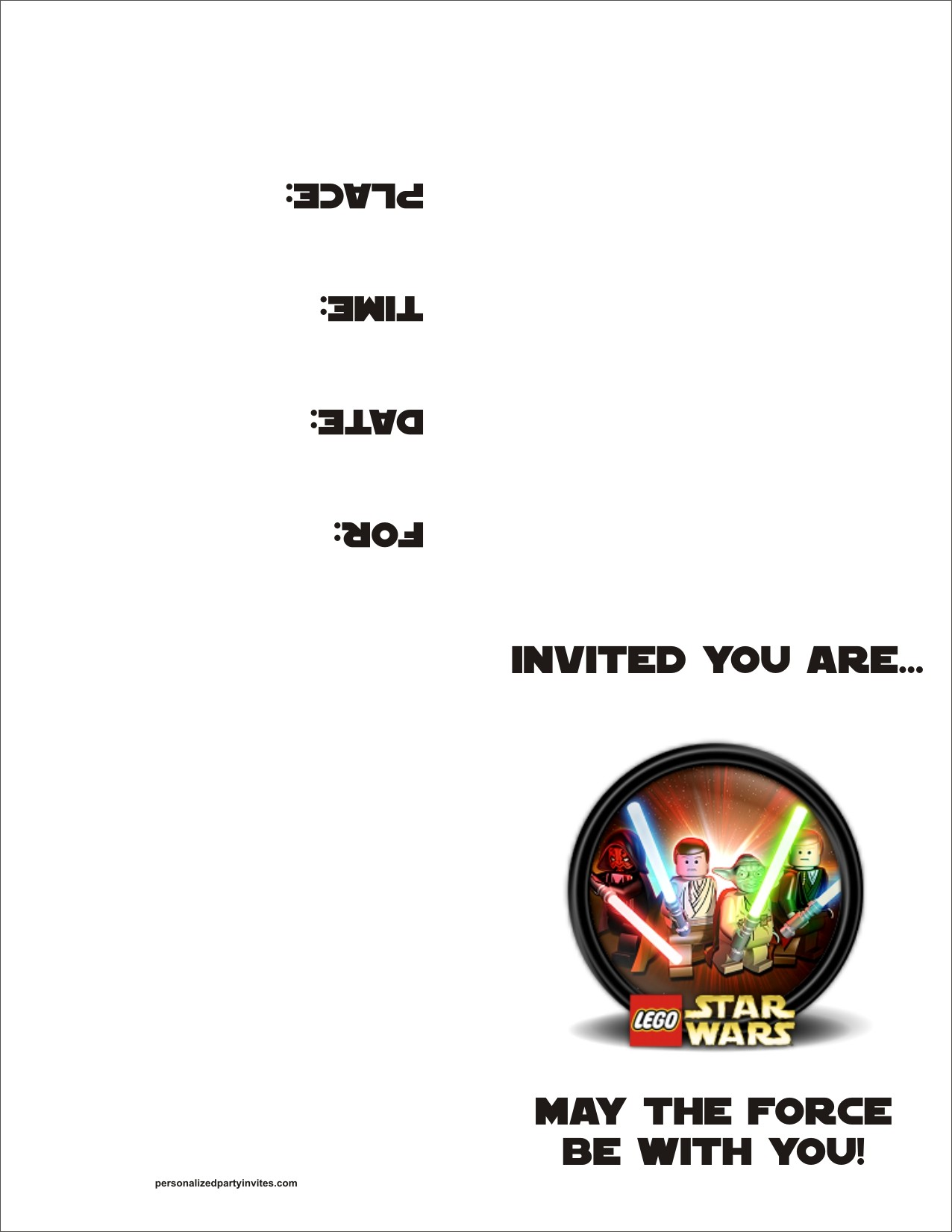 lego star wars party invitations printable free