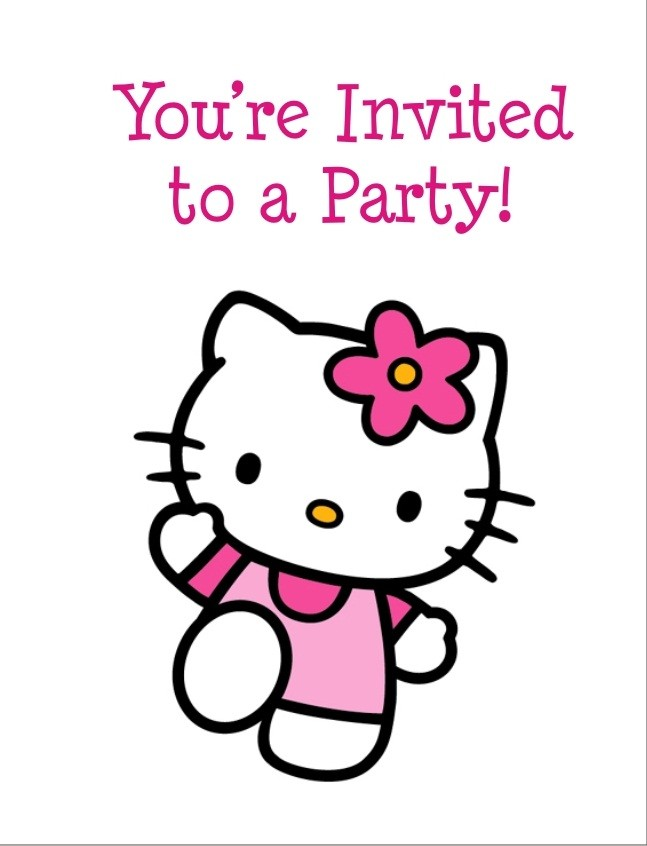 hello kitty invites free printable