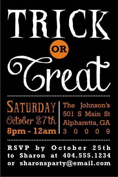 Devilish Choice Trick or Treat Halloween Party Invitation - halloween invitation