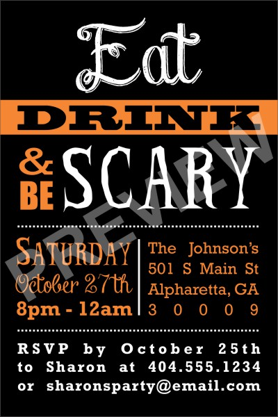 Personalized Party Invites News - Halloween Party Invitation