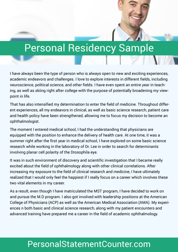 Residency Personal Statement Length - residency personal statement