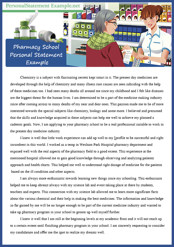 pharmacy essay pharmacy school professional personal statement - pharmacy school essay