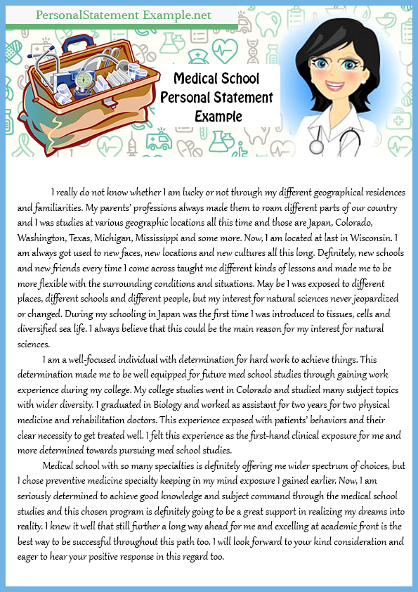 Tips on Professional Med School Personal Statement Example