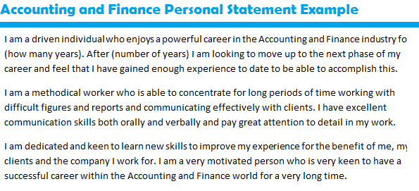 Help with personal statements