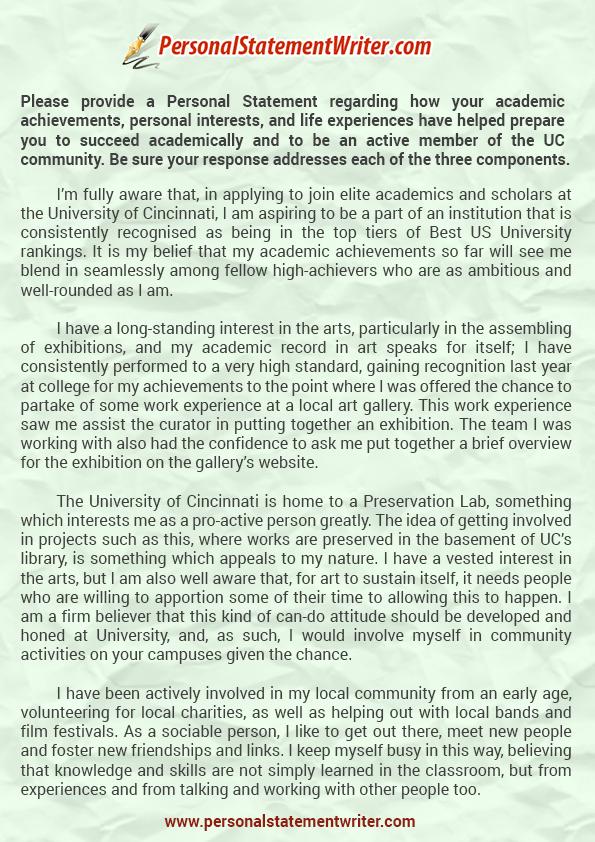 Professional University of Cincinnati Essay Prompt Guide