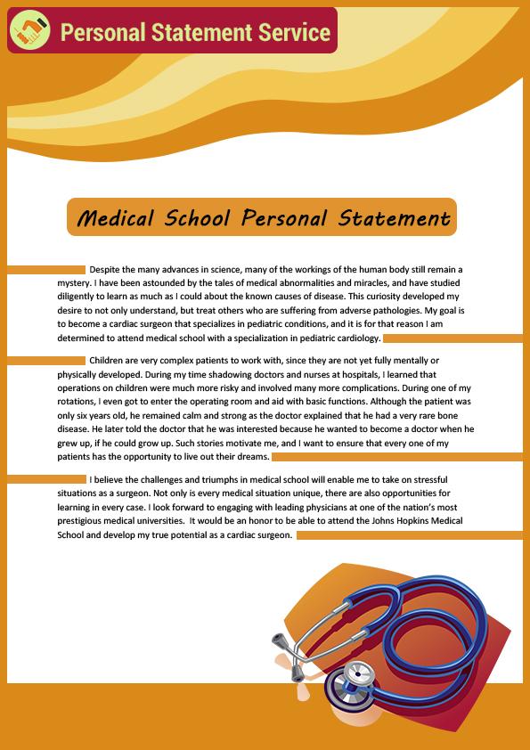 Professional Sample Medical School Personal Statement