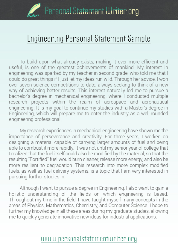 Personal Statement Examples - computer science personal statement