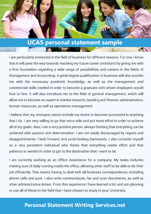 This is a great platform that provides the ucas personal statement - personal statement sample