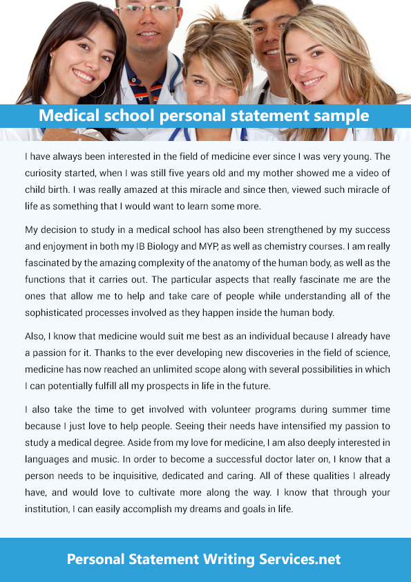 Medical School Personal Statement Review Service  Editing