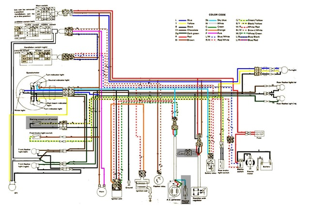 Wiring Diagram Of Yamaha Motorcycle Online Wiring Diagram