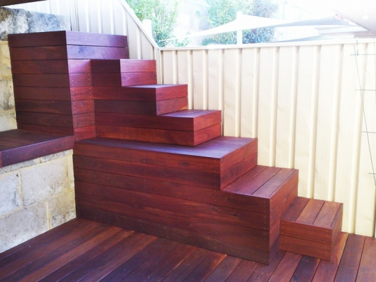 Timber Stairs And Boxes Timber Composite Decking Perth Wa