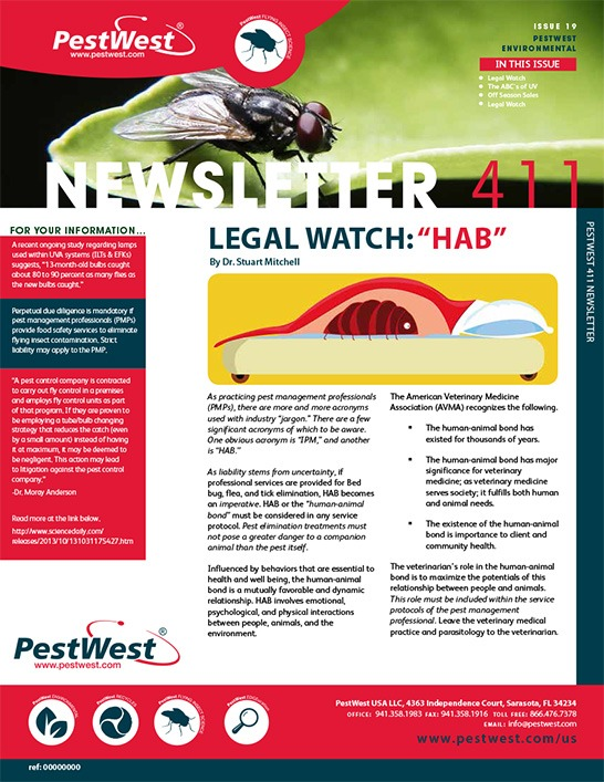 PestWest USA Newsletter Issue 19 - PestWest USA - Newsletter Format