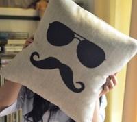 Mr. Moustache Pillow  Petagadget