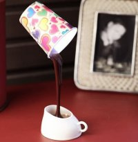 Coffee Cup LED Light Desk Table Lamp  Petagadget