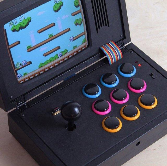 R Kaid R Black Rainbow Portable Game Console Petagadget