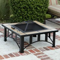 Fire Sense Tuscan Tile Mission Style Square Fire Pit ...