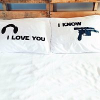 Star Wars I Love You I Know Pillow Case Set  Petagadget