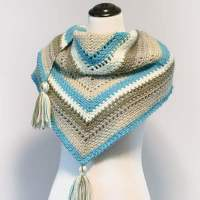 Cozy Striped Shawl Crochet Pattern | Petals to Picots
