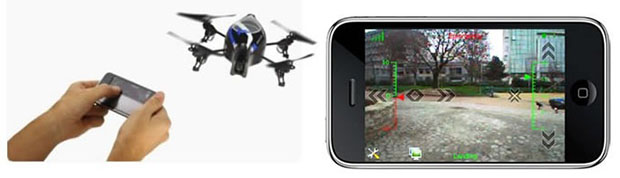 Aerial Photography with iPhone Controlled Quadricopter parrotheader
