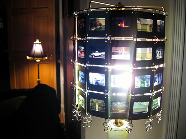 Recycled Slide Film Lamp Shade lampshade11