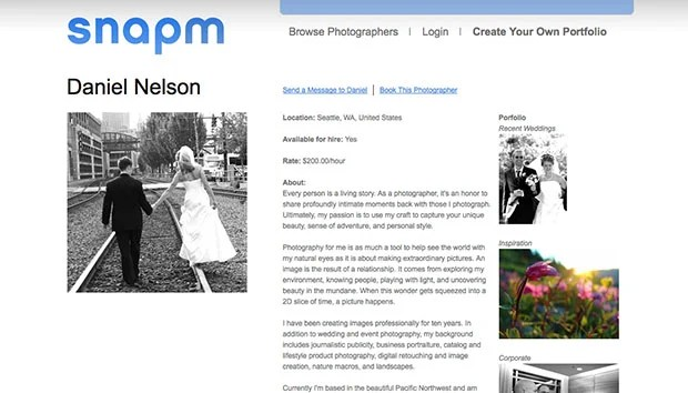 Snapm Helps Amateur Photogs Find Work snapmscreen