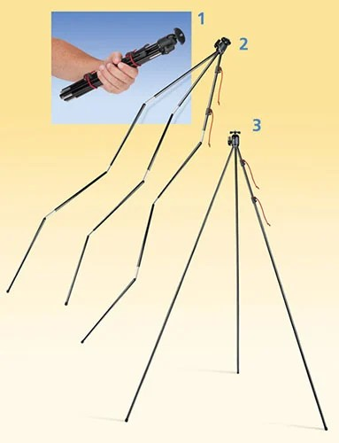 Collapsible Tent Pole Tripod by Tamrac zipshot