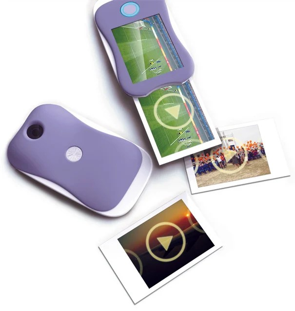 Futuristic Polaroid Camera for Printing Wallet Sized Video Clips moviepolaroid