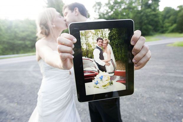 Wedding Photographers Get Grooms Excited by Bundling iPad with Albums ipadwedding