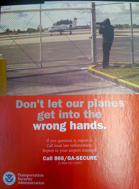 New TSA Poster Vilifies Pointing Canons at Airplanes tsaposter