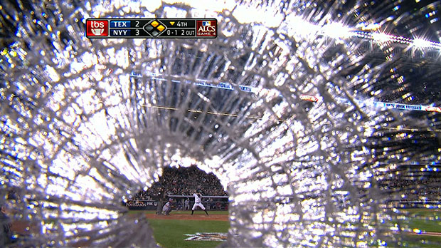 Broken Bat Smashes Camera Lens at MLB Playoff Game brokenbat