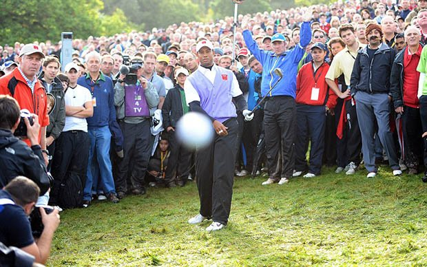 Photog Captures Evidence that He Was Struck by Tiger Woods Ball tigerball