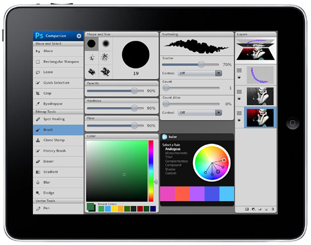 What Photoshop Might Be Like on Mobile Computing Devices ipadmockup